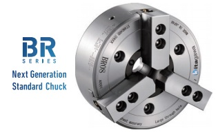 Featured Product!  Kitagawa Power Chuck BR Series:Ultra-large Through-hole,  High Precision, High-speed