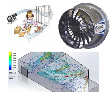 Creating airflow in industrial buildings during COVID19